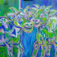Love me tender, 90 x 90 cm Acrylic on canvas