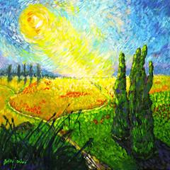 Paysage `a la van-Gogh