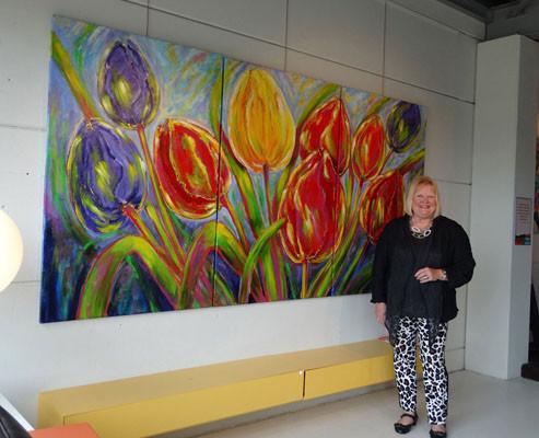 Dancing tulips expositie bij Flier, Emmen