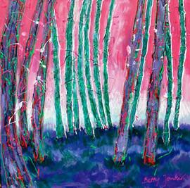Purple-green trees