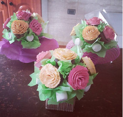 ramo de flores de cupcakes
