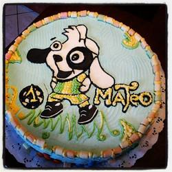 Torta pintada con crema