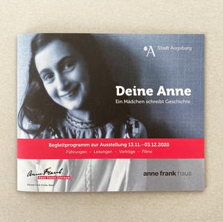 Broschüre für die Anne Frank Ausstellung