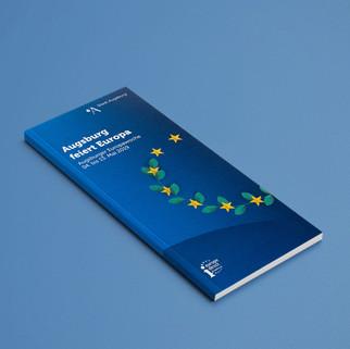 Broschüre für den Europatag in Augsburg