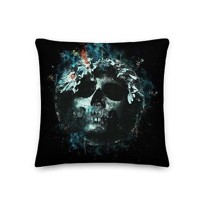 Premium Pillow Water Skull
