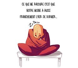 Monk sleeping2