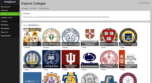 Explor Colleges   NoteCloud