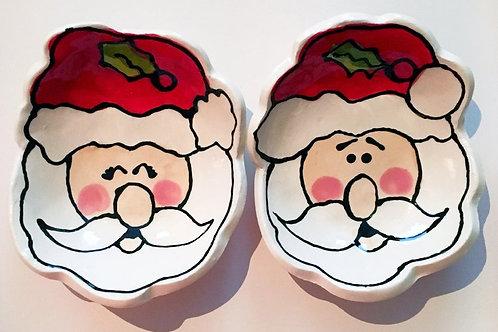Mini Santa Handmade pottery bowl By Artzfolk great teachers gifts or presents