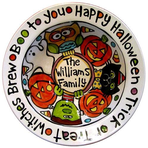 Custom Designed BIG Ceramic Candy Halloween Serving Bowl