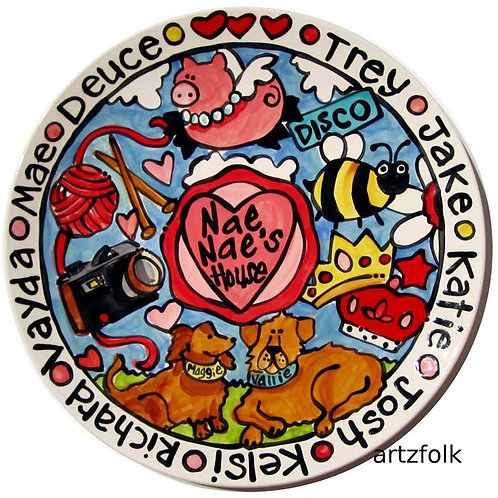Heart theme story art custom platter by Artzfolk
