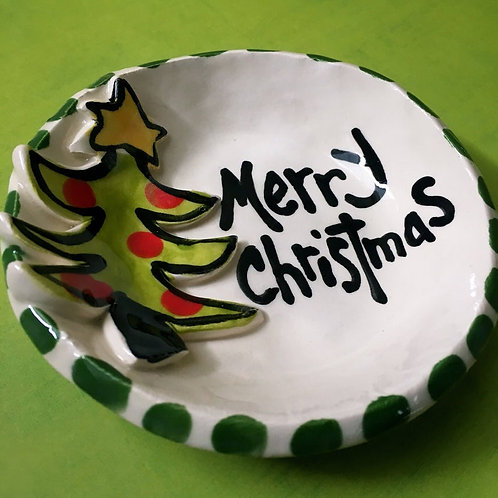Christmas Gift small ring dish or soap dish handmade pottery bowl by artzfolk