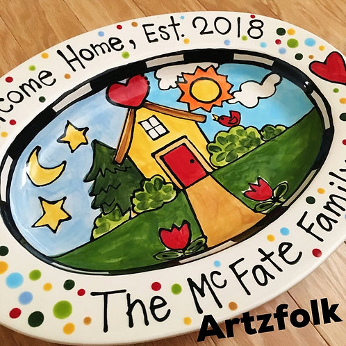 Personalized new house serving tray home sweet home lg size name gift new home