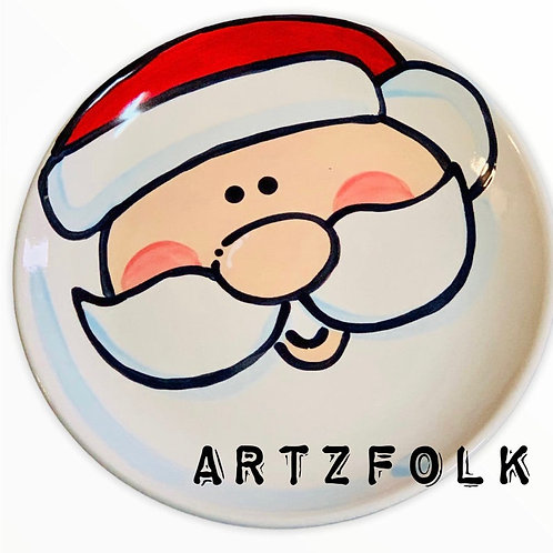 Cookies For Santa holiday ceramic christmas plate personalized name by artzfolk