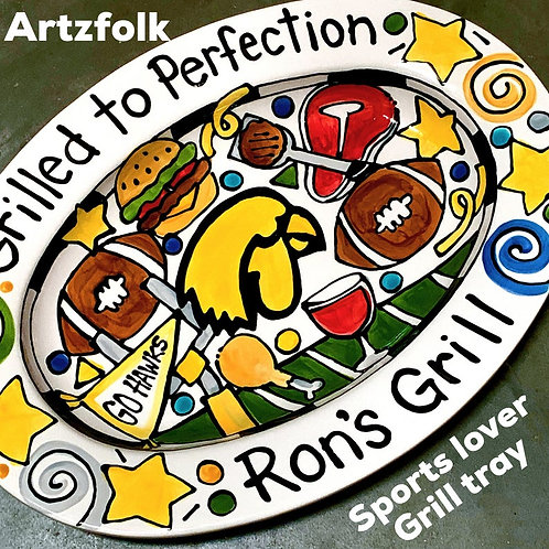 The grillmaster STORY ART Custom made traditions family name Sports Lover