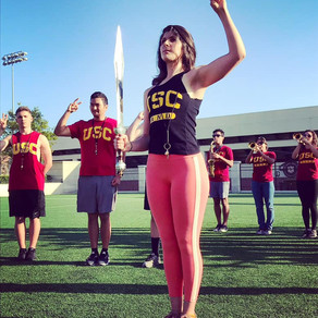 First-ever Female Drum Major of The Spirit of Troy.