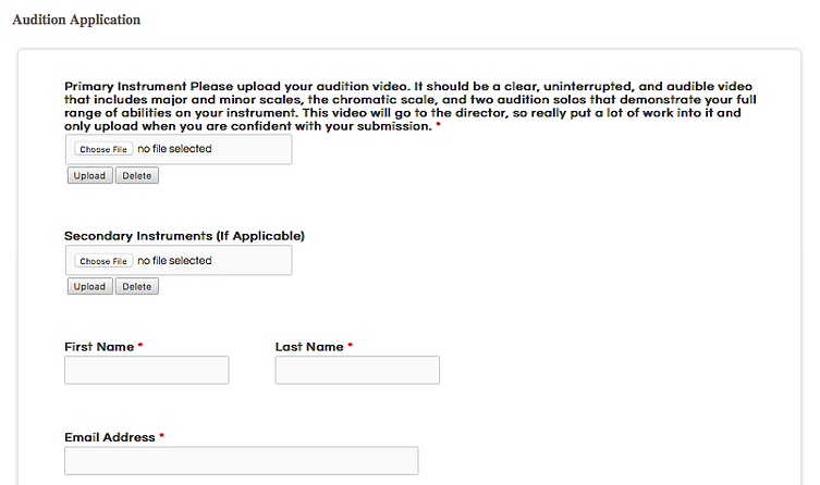 Upload Your Audition   NoteCloud