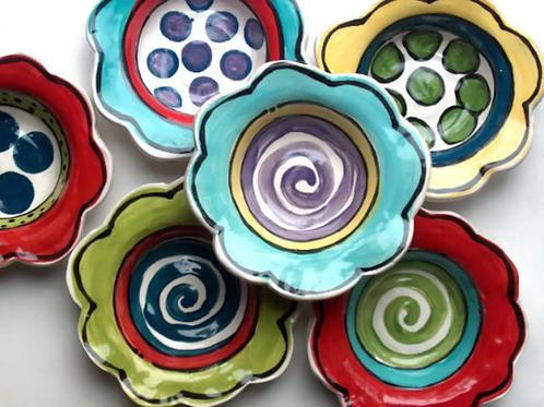 medium Handmade Pottery flower bowl art Bowl by Artzfolk