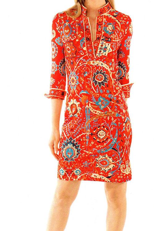 Jersey Ruffleneck Dress