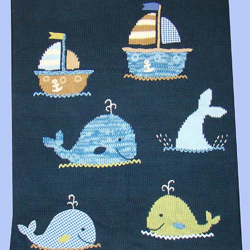 Hand Knit Baby Crib Blanket