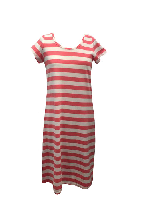 Joules Short Sleeved Striped Dress