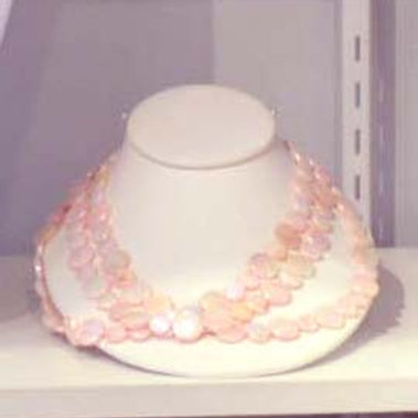 Pink 3 Strand Necklace #12177