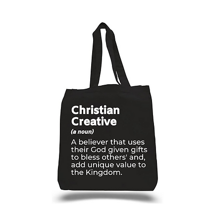 Creative Christian Black Canvas Tote