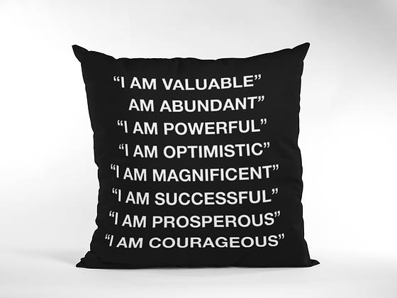 Affirm Black pillow cover (18x18)