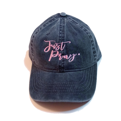 Just Pray Black Denim Hat