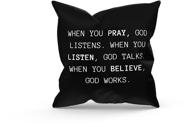 When you.. Black Pillow Cover (18x18)
