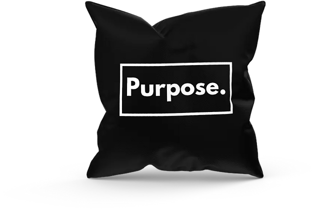 Purpose Black Pillow Cover (18x18)