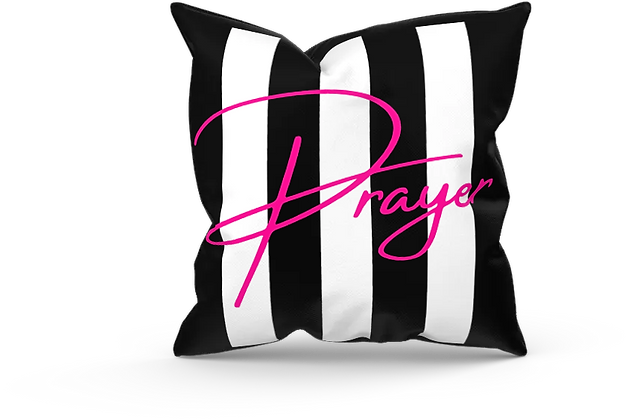 Prayer Black and White pillow cover (18x18)