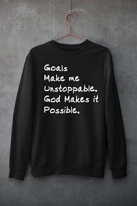 Goals with God Black Sweatshirt