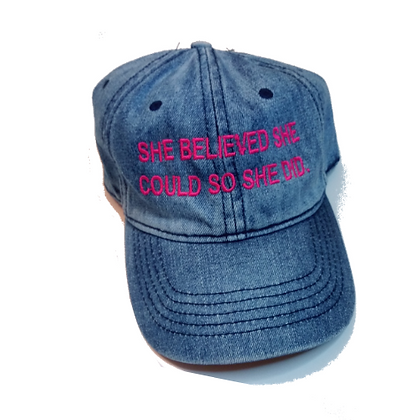 She Did. Denim Hat