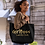 Thumbnail: Girl Boss Led by God Gold/ Black Canvas Tote