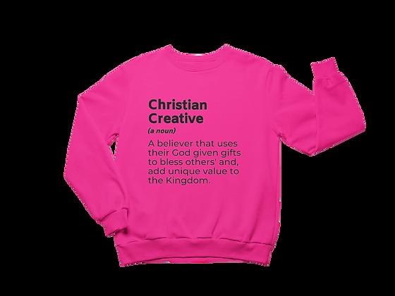 Creative Christian Pink Sweatshirt