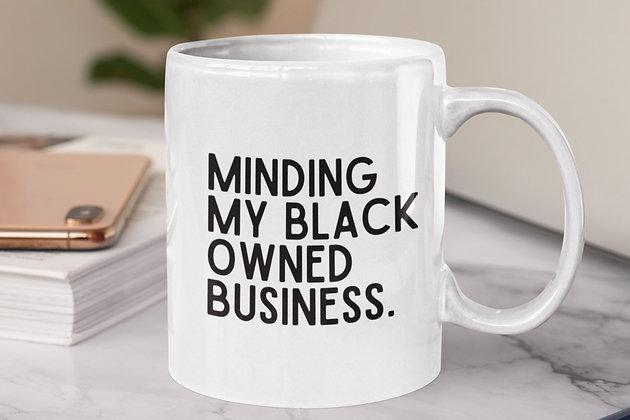 Black Owned Business White Mug