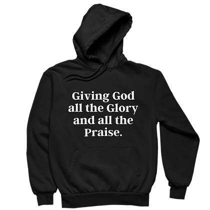 Giving God Glory and Praise Black Hoodie