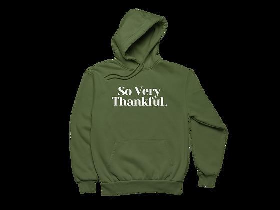 Thankful Hoodie Military Green