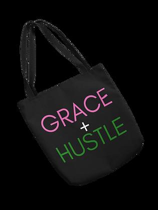 Grace + Hustle Tote (Pink/Green)