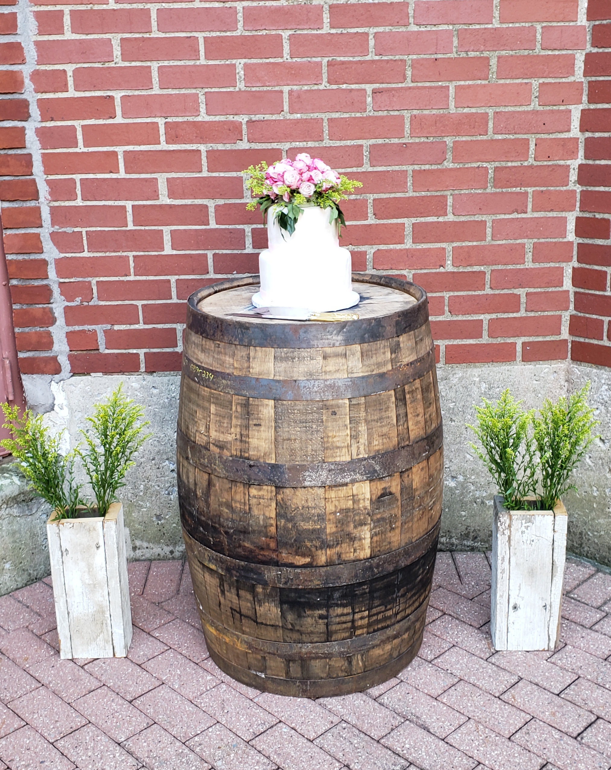 Barrel Cake Display