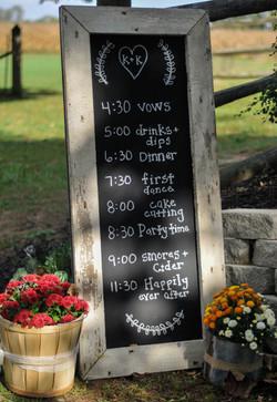 Chalkboard Schedule
