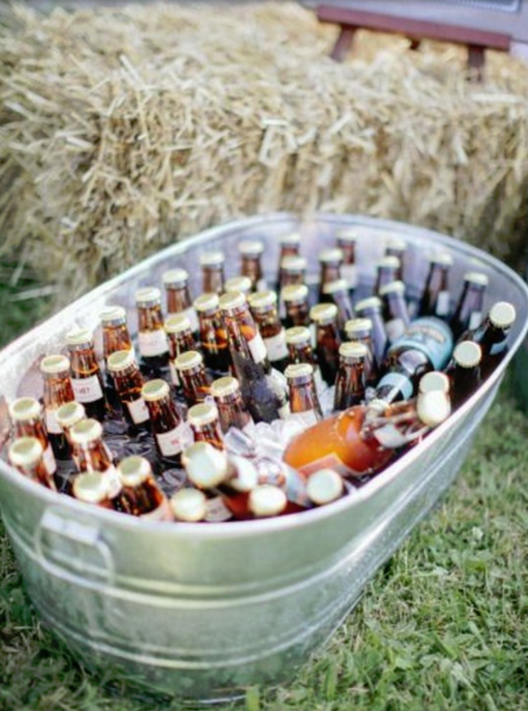 Galvanized Tub of Beverages