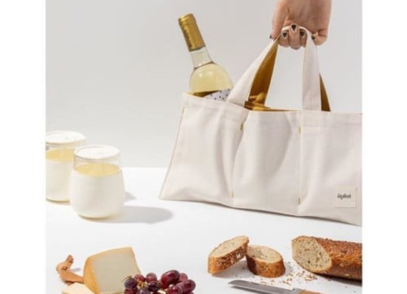 One Bottle Wine Tote by Aplat