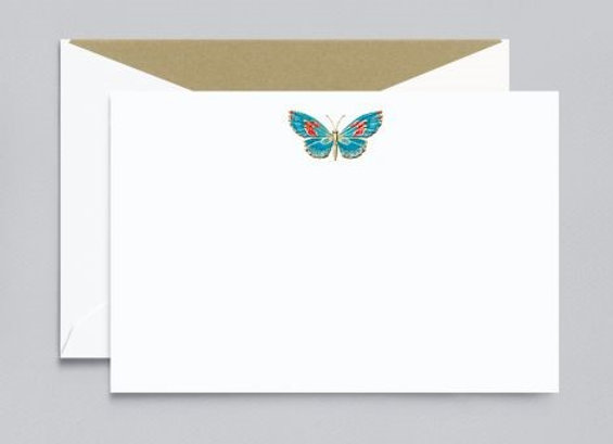 Engraved Butterfly Card w/ Hand Calligraphy Message