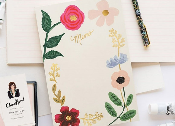 Large Memo Notepad by Rifle Paper Co.