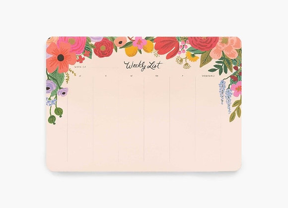 Weekly Desk Pad by Rifle Paper Co.