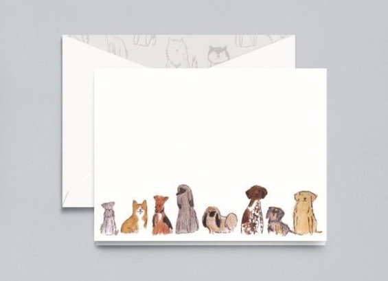 Dog Collection Card w/ Hand Calligraphy Message