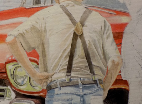 Progress on my car show painting...