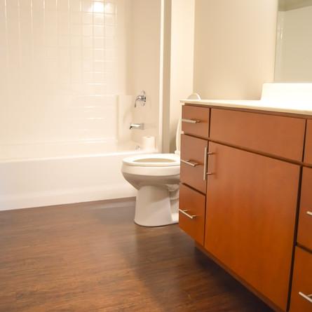 Unit bathroom at ParkView