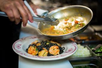 Black Tagliolini w/ Shrimp & Scallops